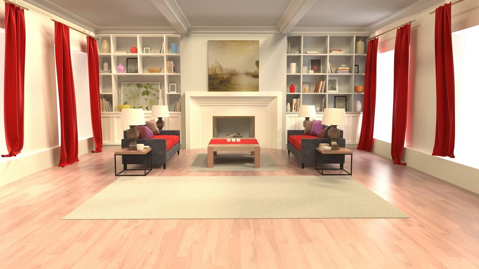 Virtual TV Studio Background - Architectural Rendering/Visualization.