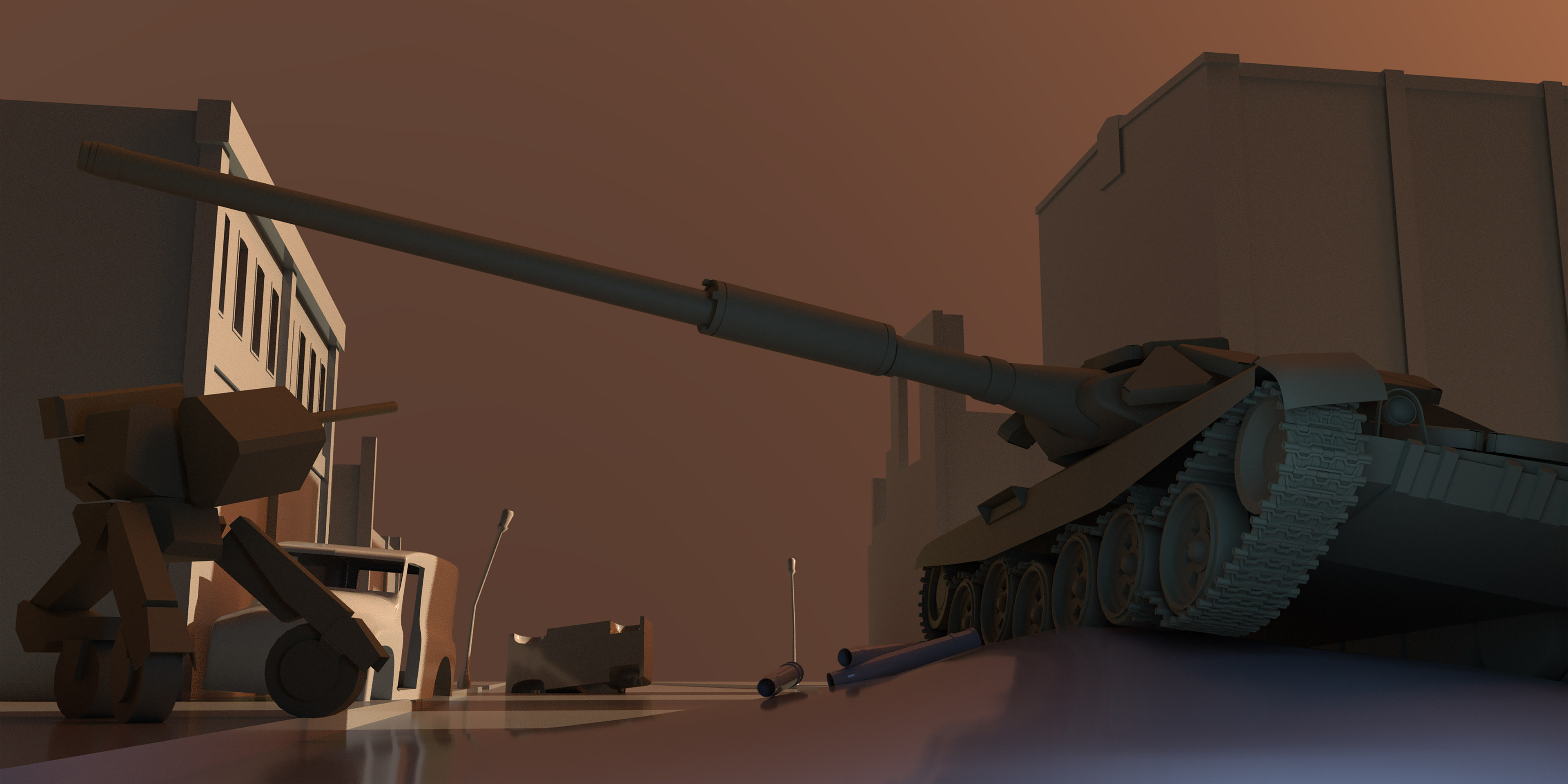 Raw Arnold render in 3ds Max.