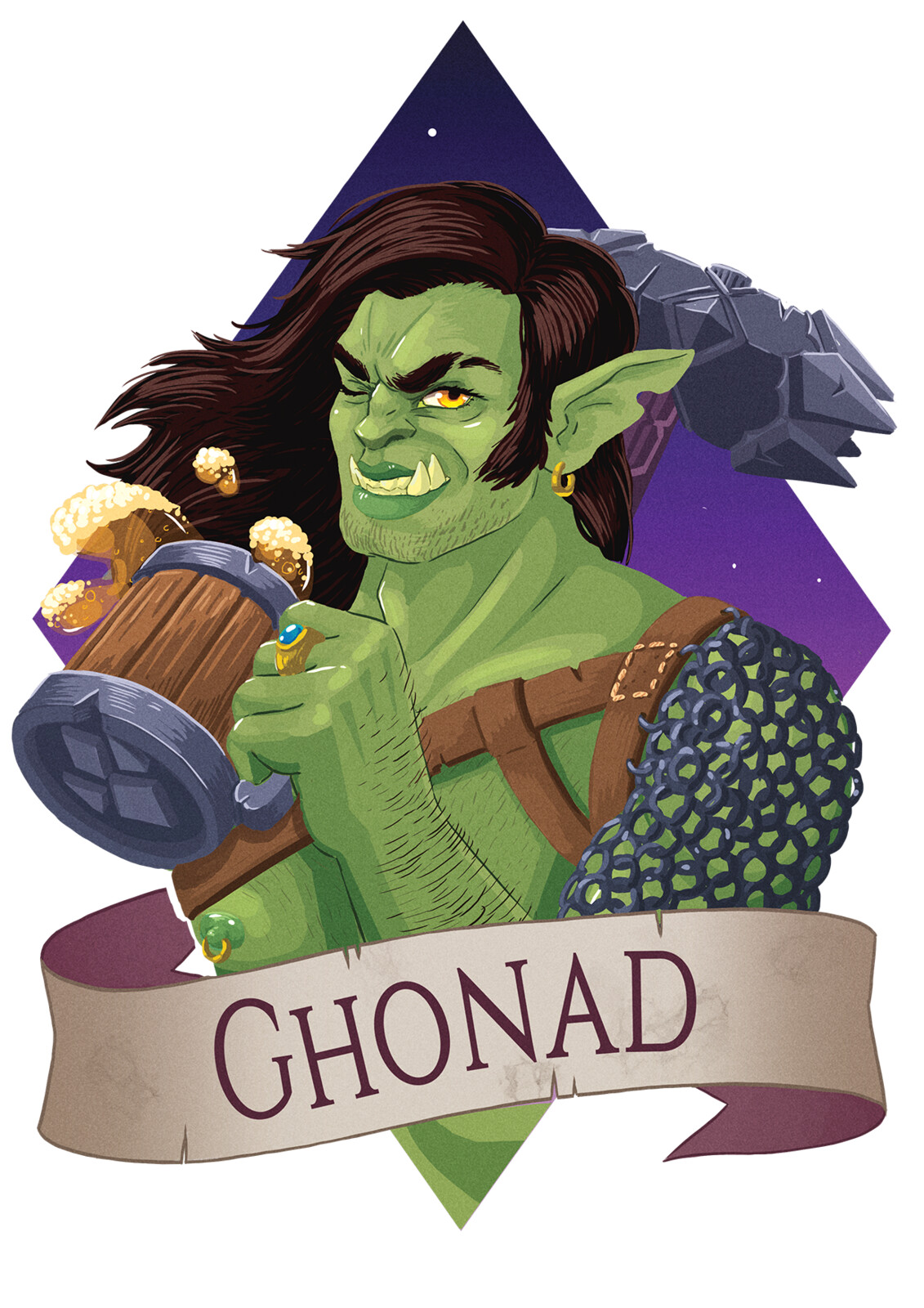 DnD Commission: Ghonad the Barbarian