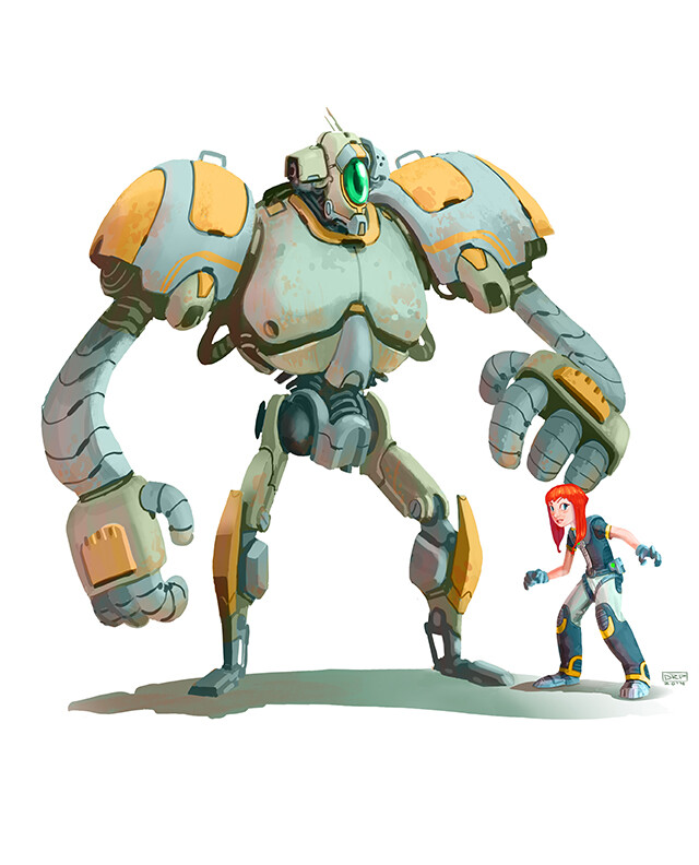 Hero Robot Character Designs