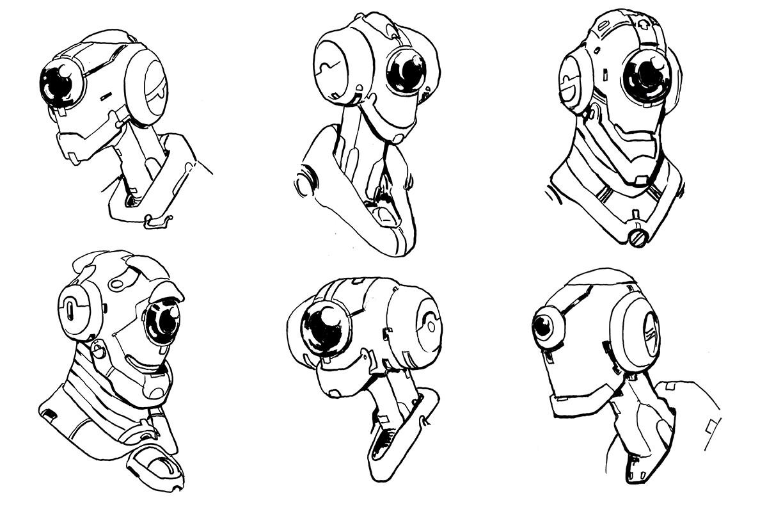 Hero Robot Design - Heads