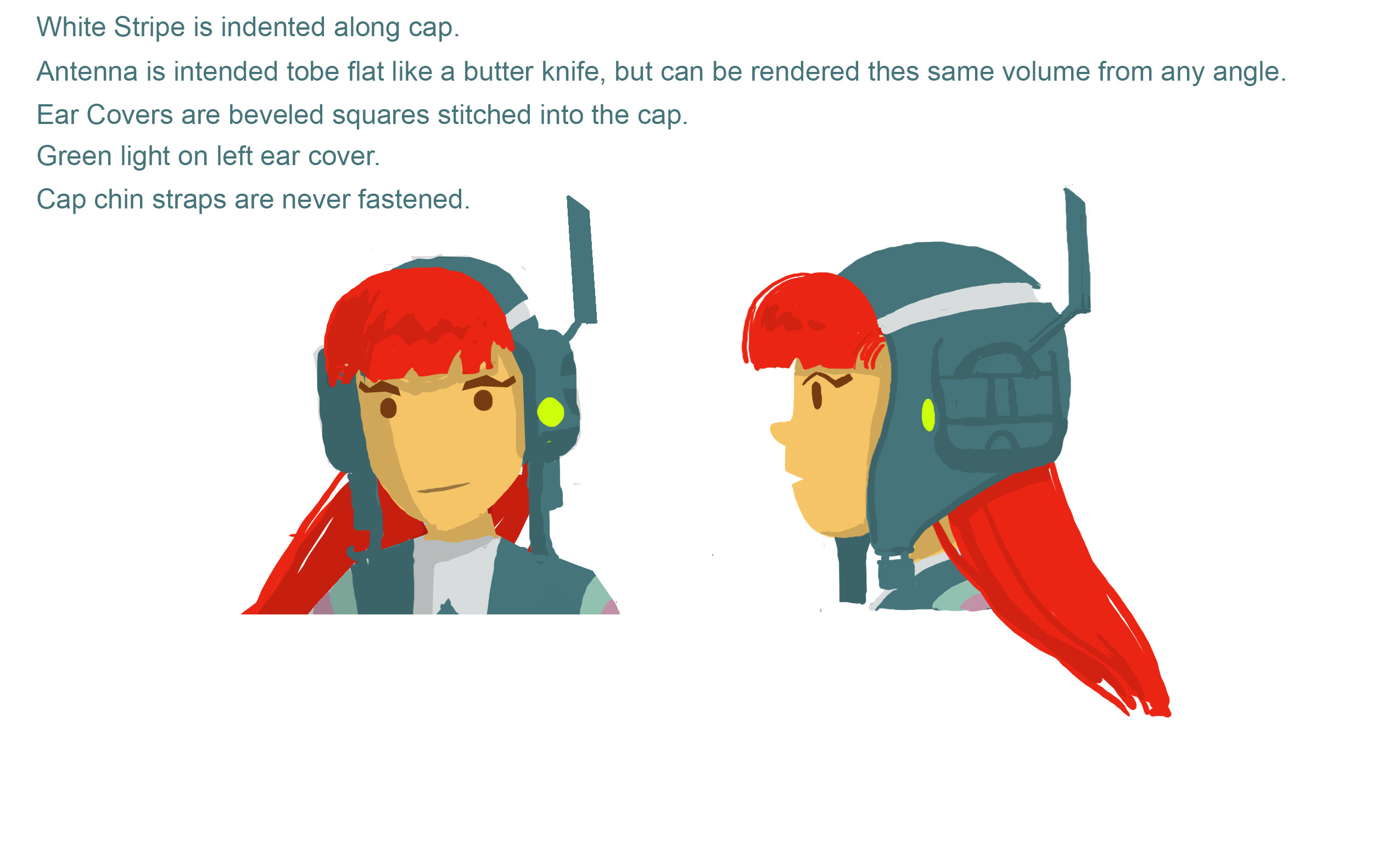 Hero Girl Design - Head Detail