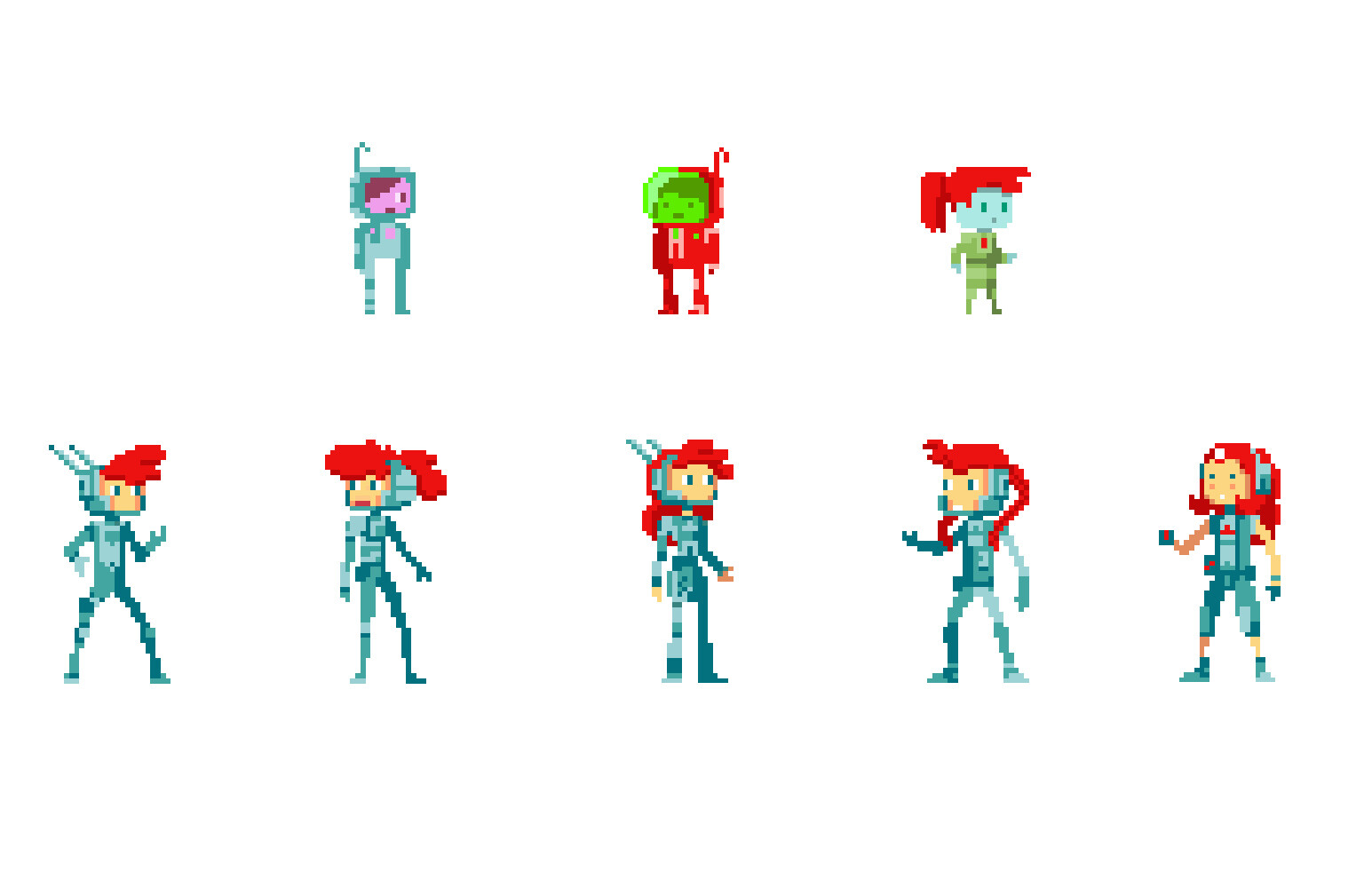 Hero Girl Design - Pixel Test