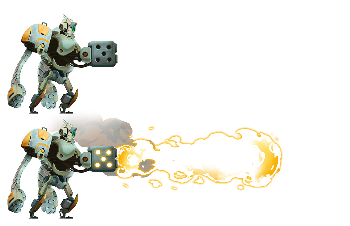 Hero Robot - Flame Attachment - Chest Mount
