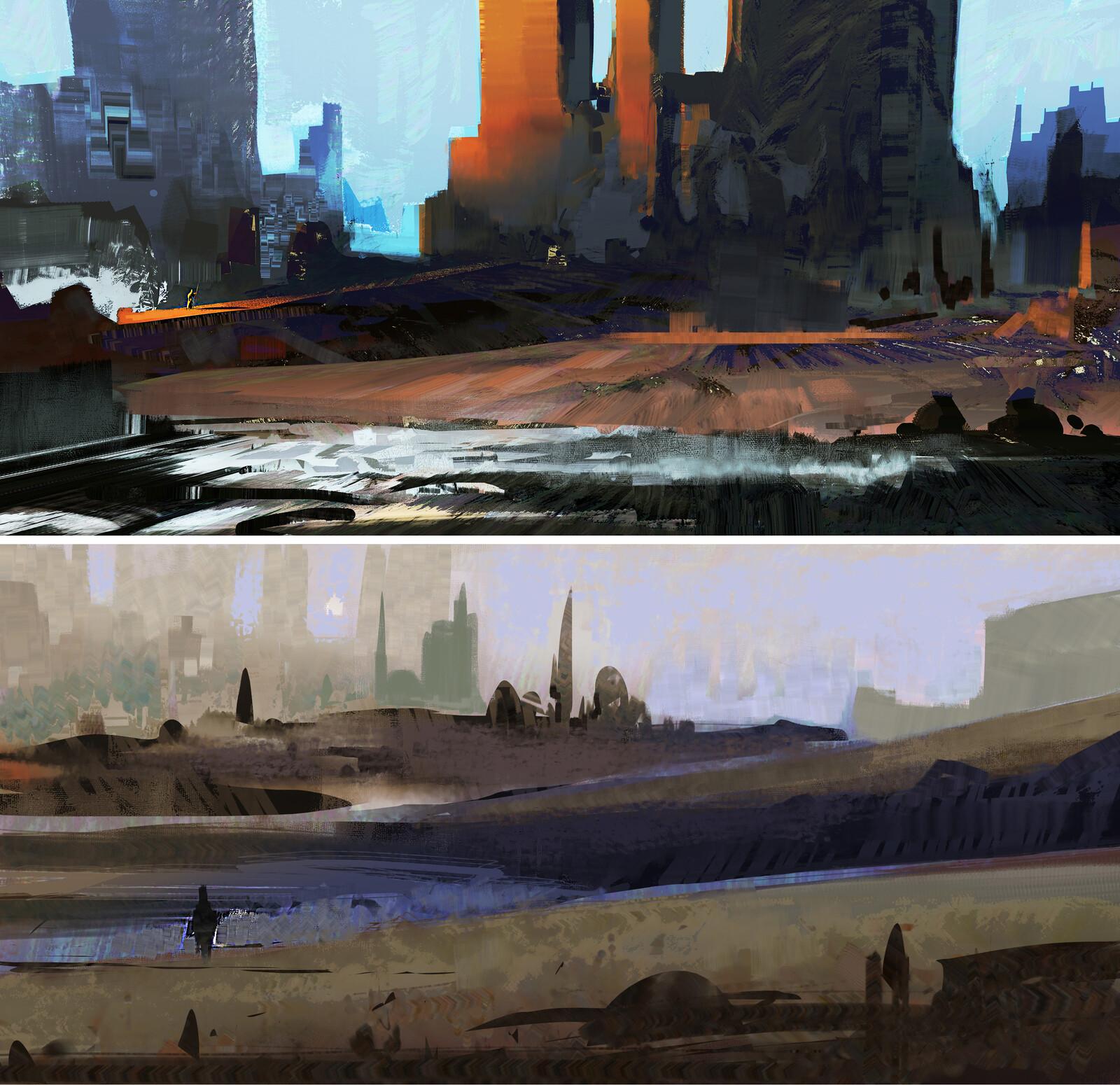 Landscape style studies