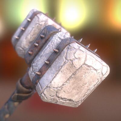 Maxim demidenko fantasy stone hammer