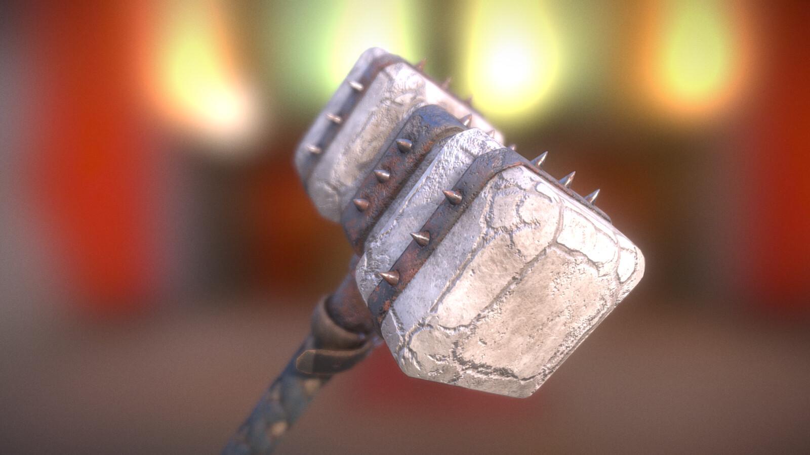 Fantasy Stone Hammer