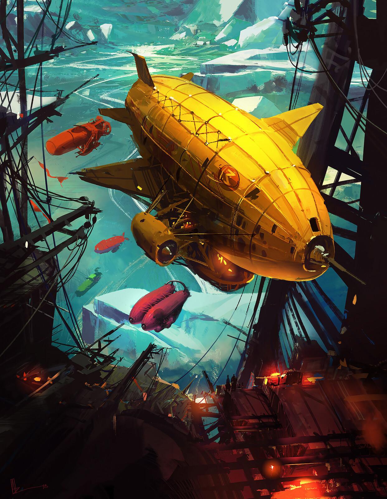 Mortal Engines / Ships Over ARKANGEL