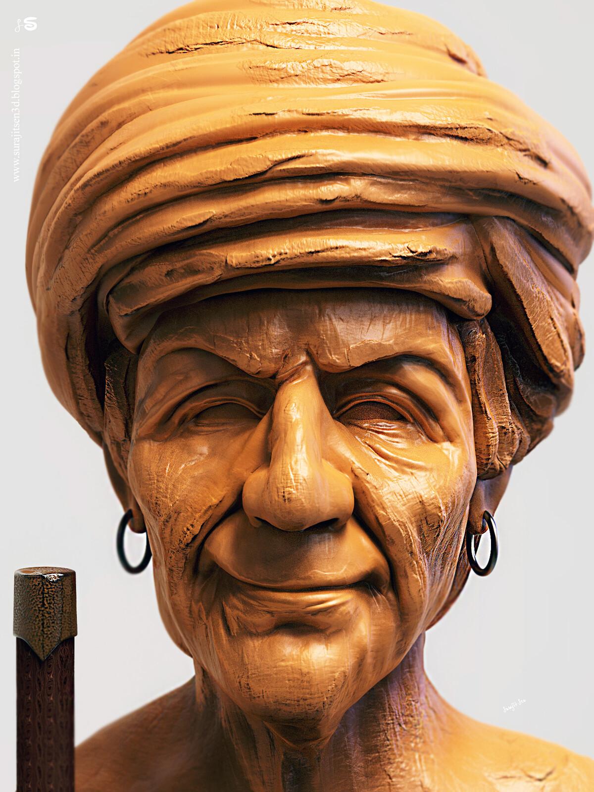 """My weekend speed Digital sculpt study. ... """"Maanvir""""."""