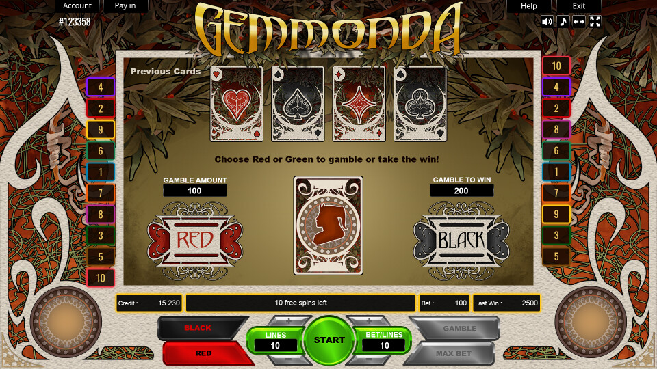 Gemmonda - Gamble Screen