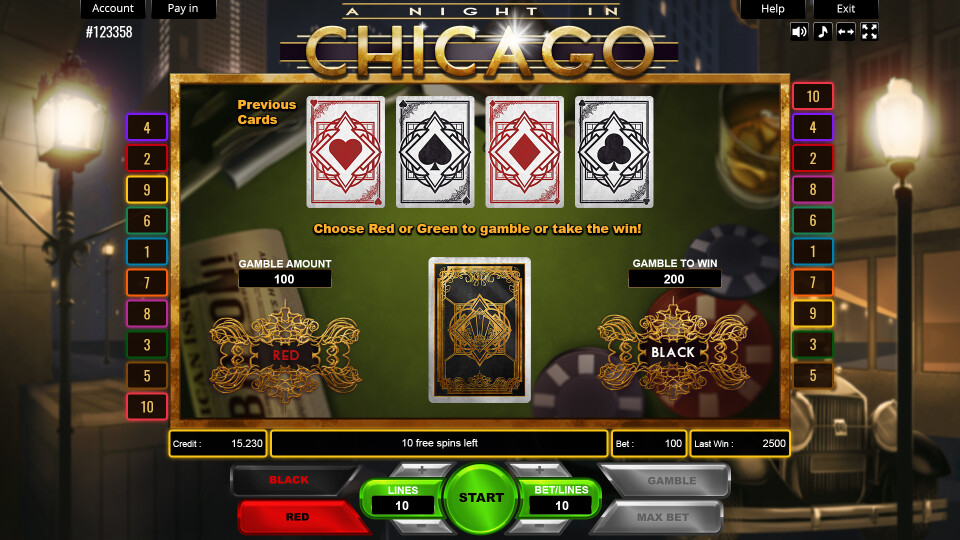 A Night in Chicago - Gamble Screen
