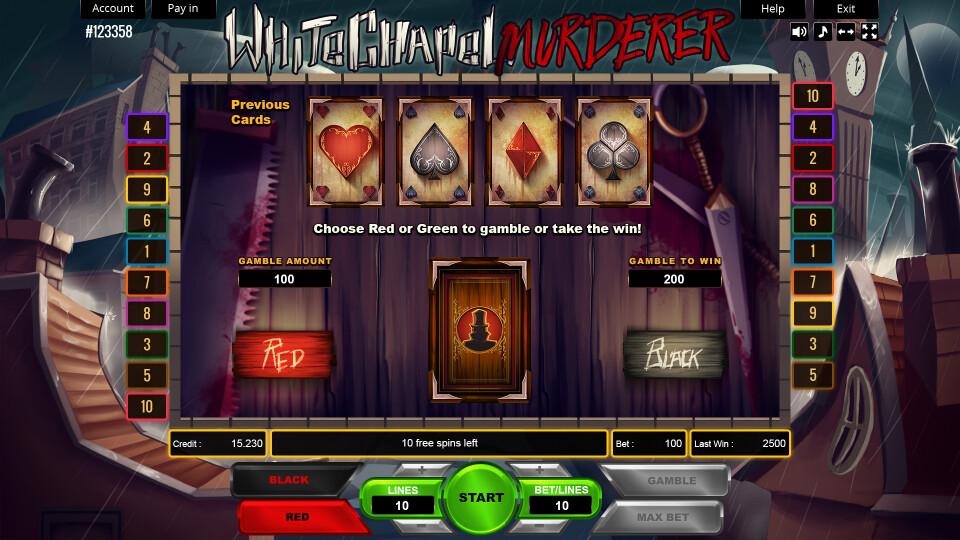 Whitechapel Murderer - Gamble Screen
