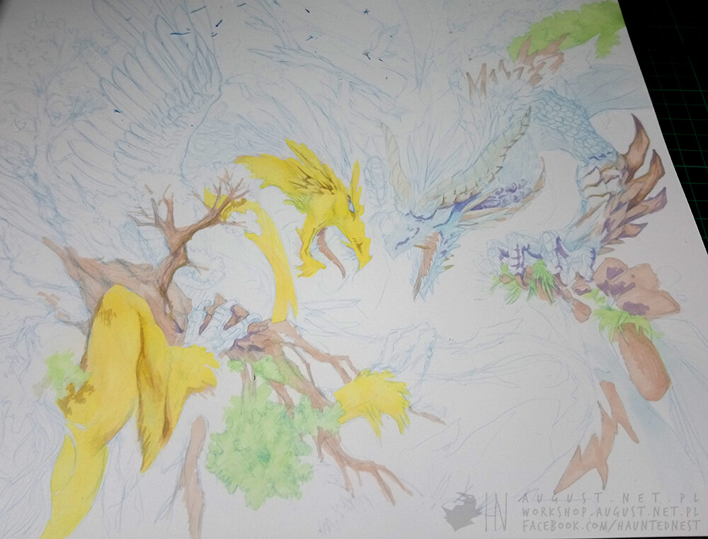 Colouring progress 1