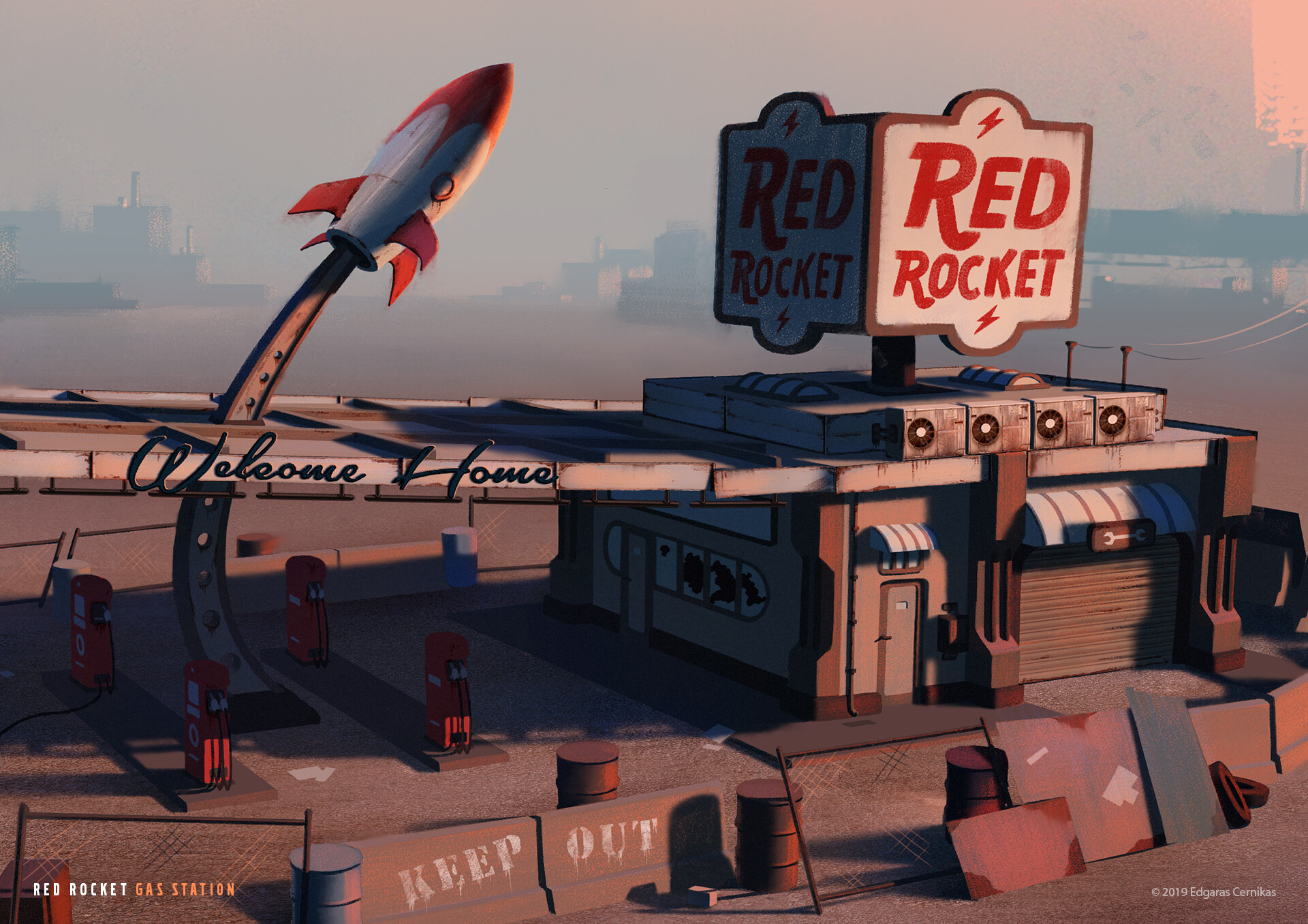 Edgaras cernikas red rocket gas station close up