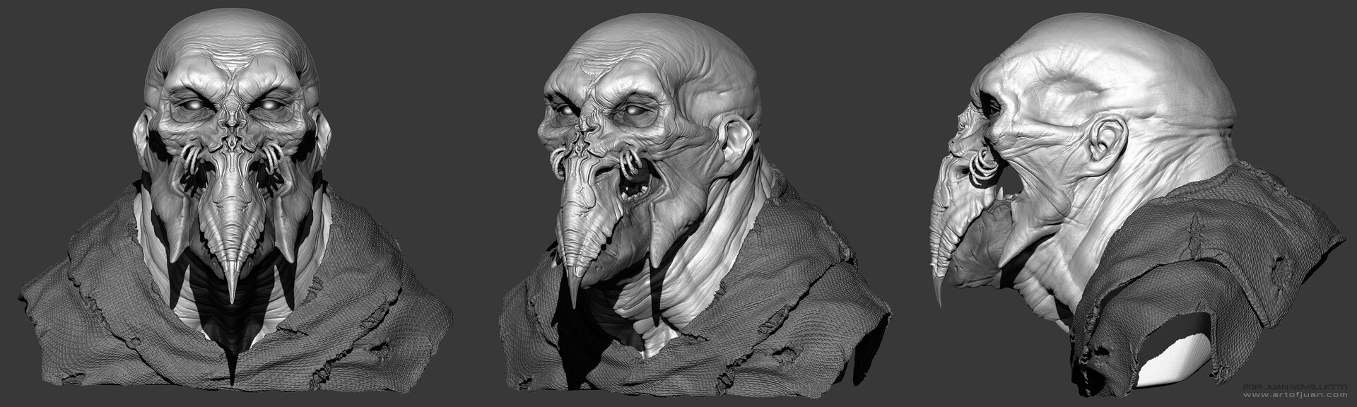 Juan novelletto hex 01 zbrush