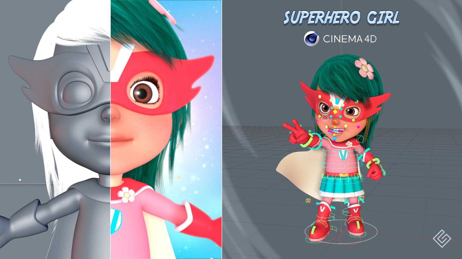 ArtStation - Superhero girl, Giuseppe Sarcì