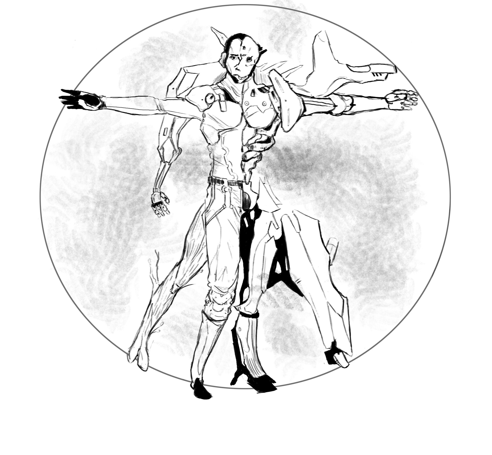 ArtStation - Character Sheet Template, Emmett Shatley