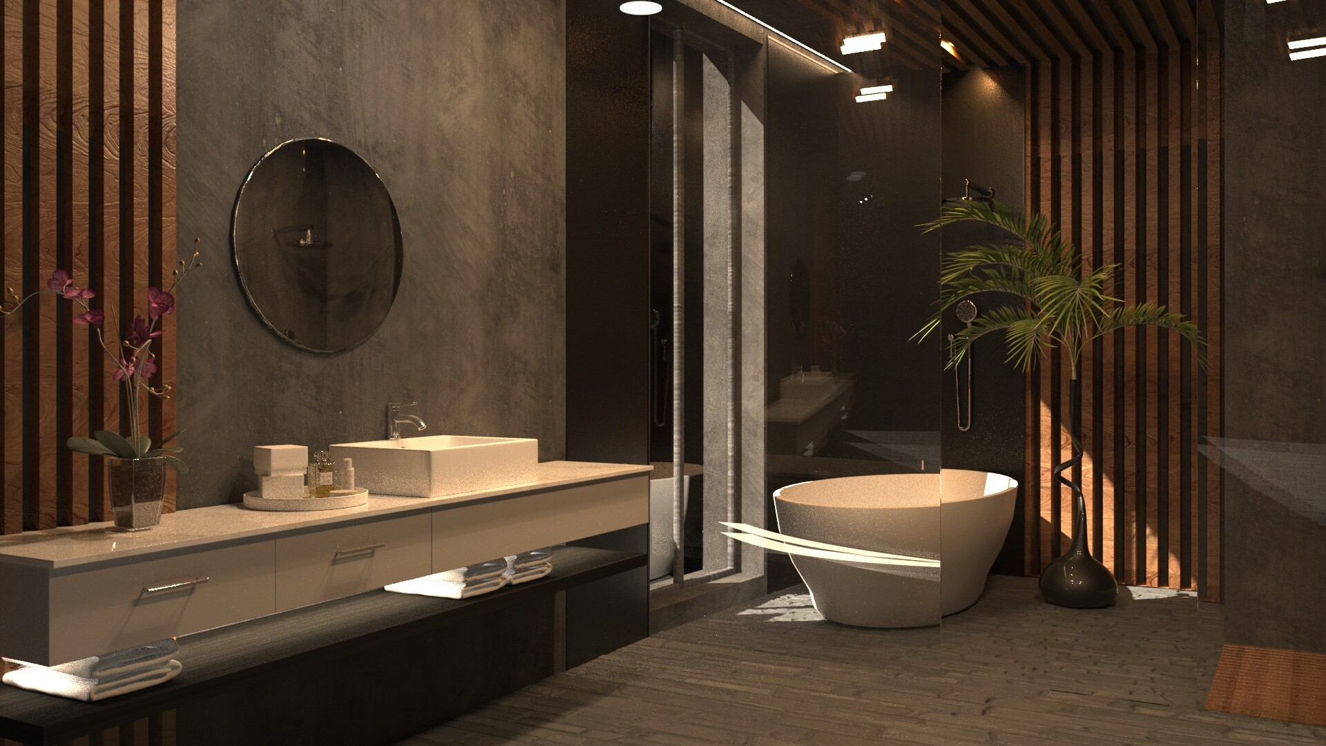 Artstation Bathroom Design 3ds Max Corona Lasha Jvaridze