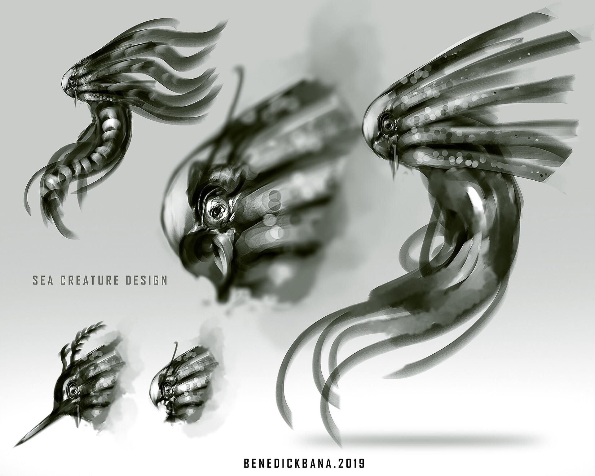 Speedpainting Sea Creature Design