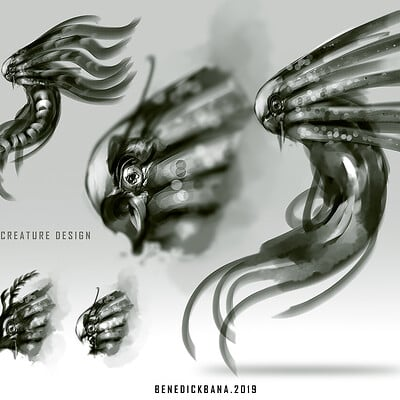 Benedick bana sea creature design