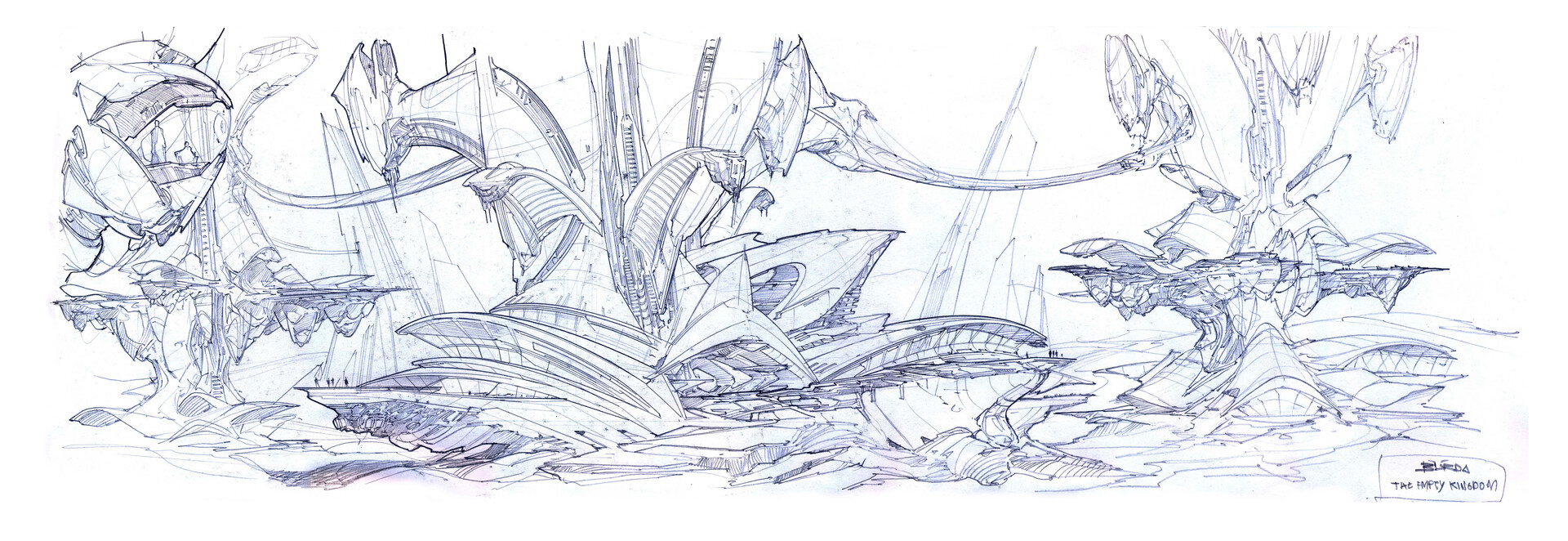 Alejandro burdisio bocetos the empty kingdom arcadia2