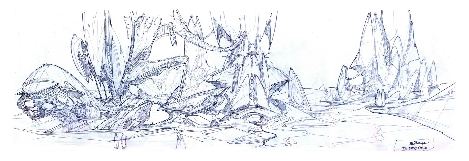 Alejandro burdisio bocetos the empty kingdom arcadia1