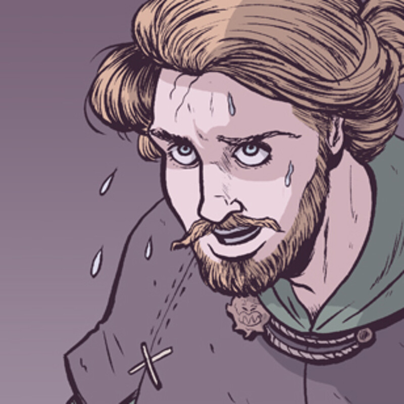 Comic Coloring Sample Pages from MERRY MEN