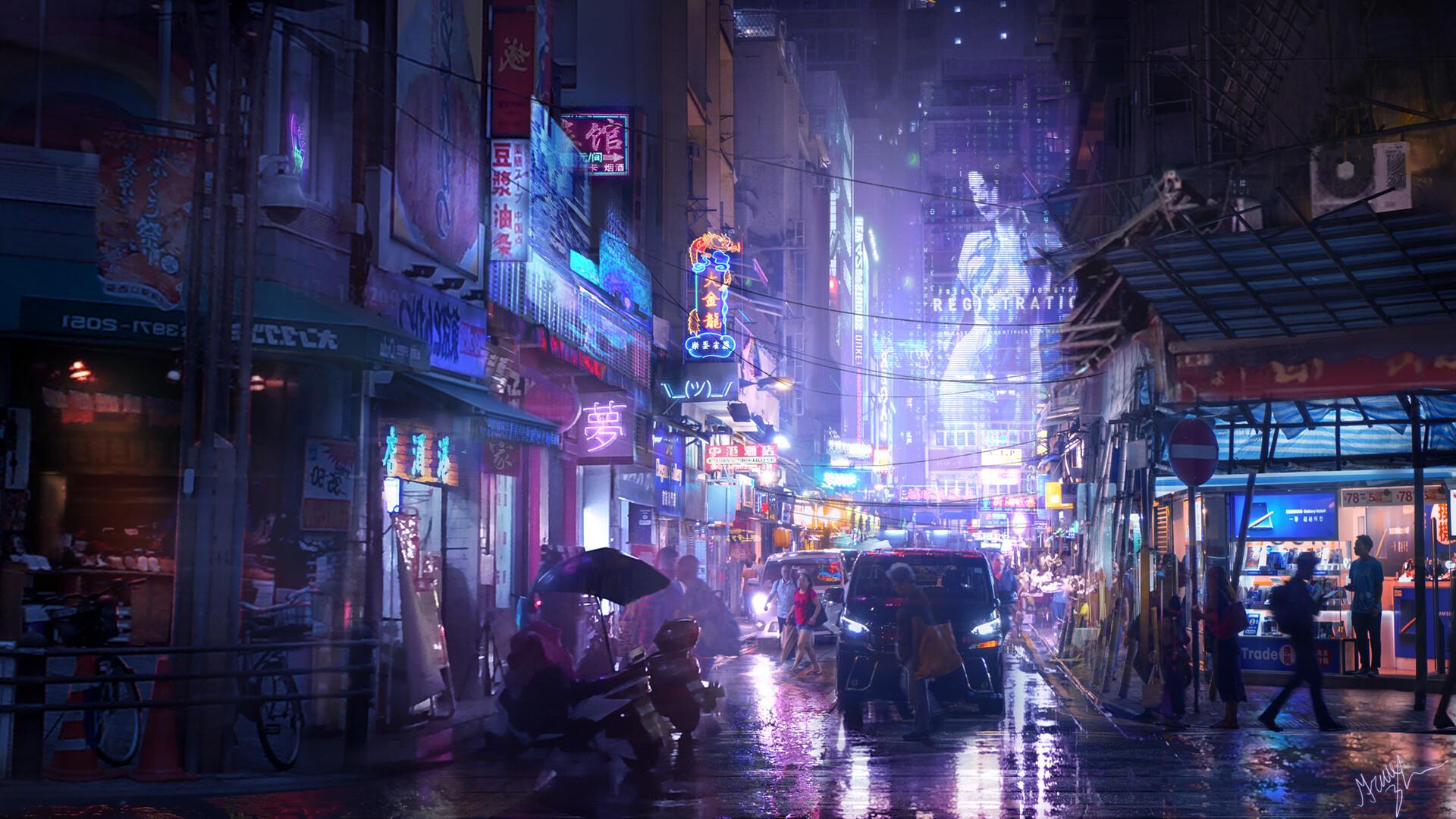 Grace zhu cyberpunk street