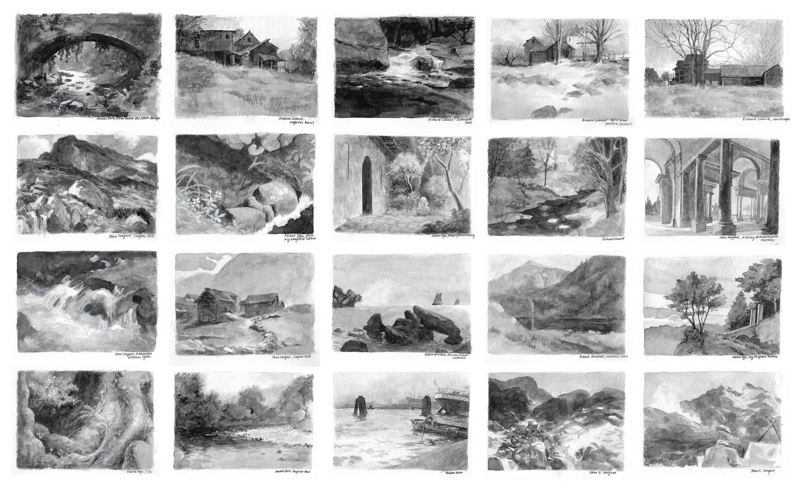 20 black and white studies