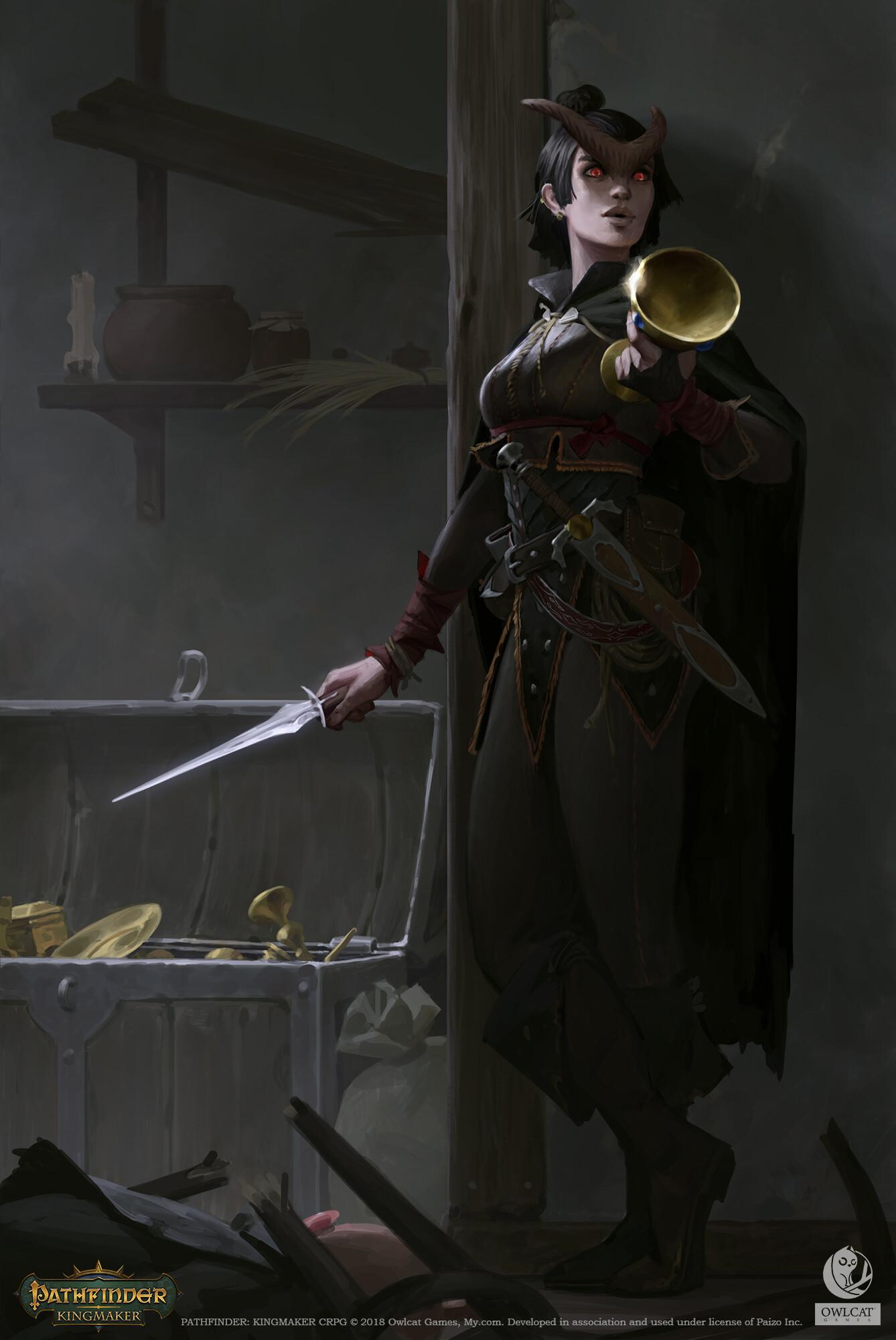 Pathfinder: Kingmaker - Tiefling by Akim Kaliberda