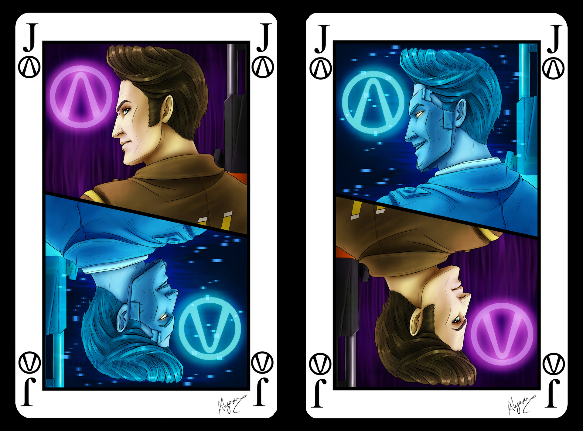 Alyoxy S Art Handsome Jack Playing Card Borderlands Fan Art