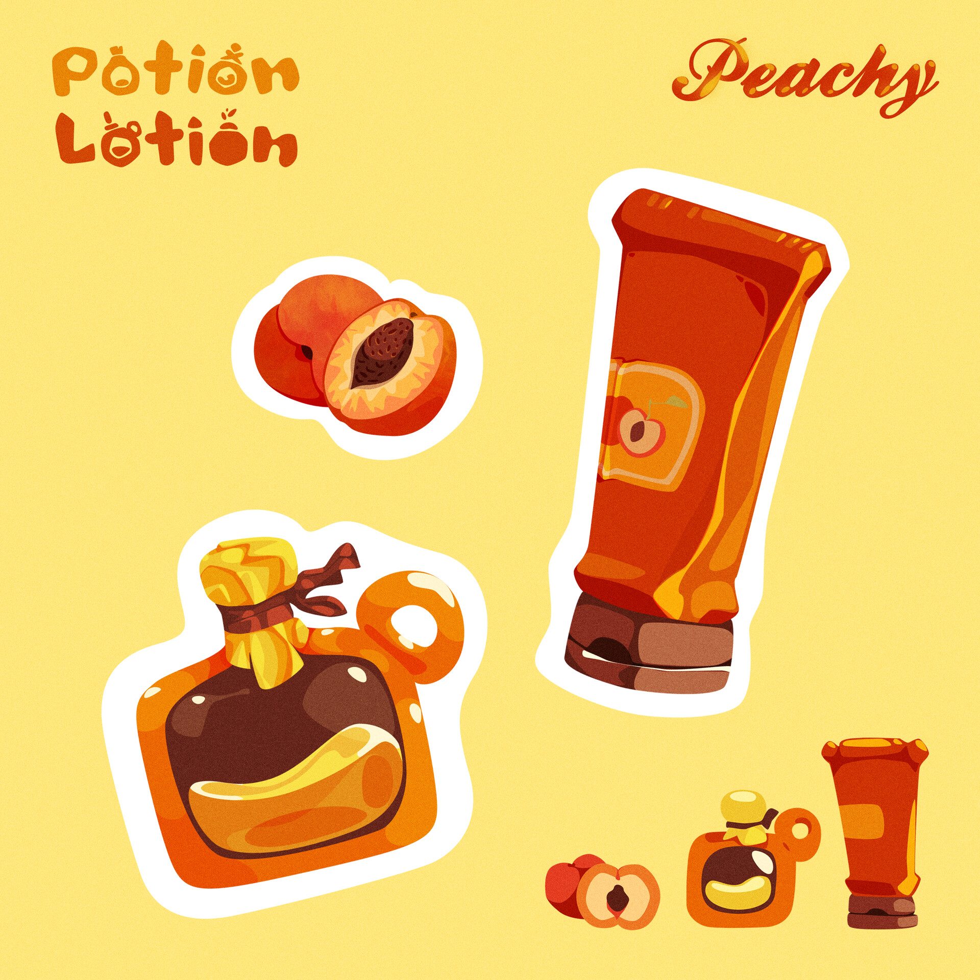 Moutaz k maudy peachy stickers