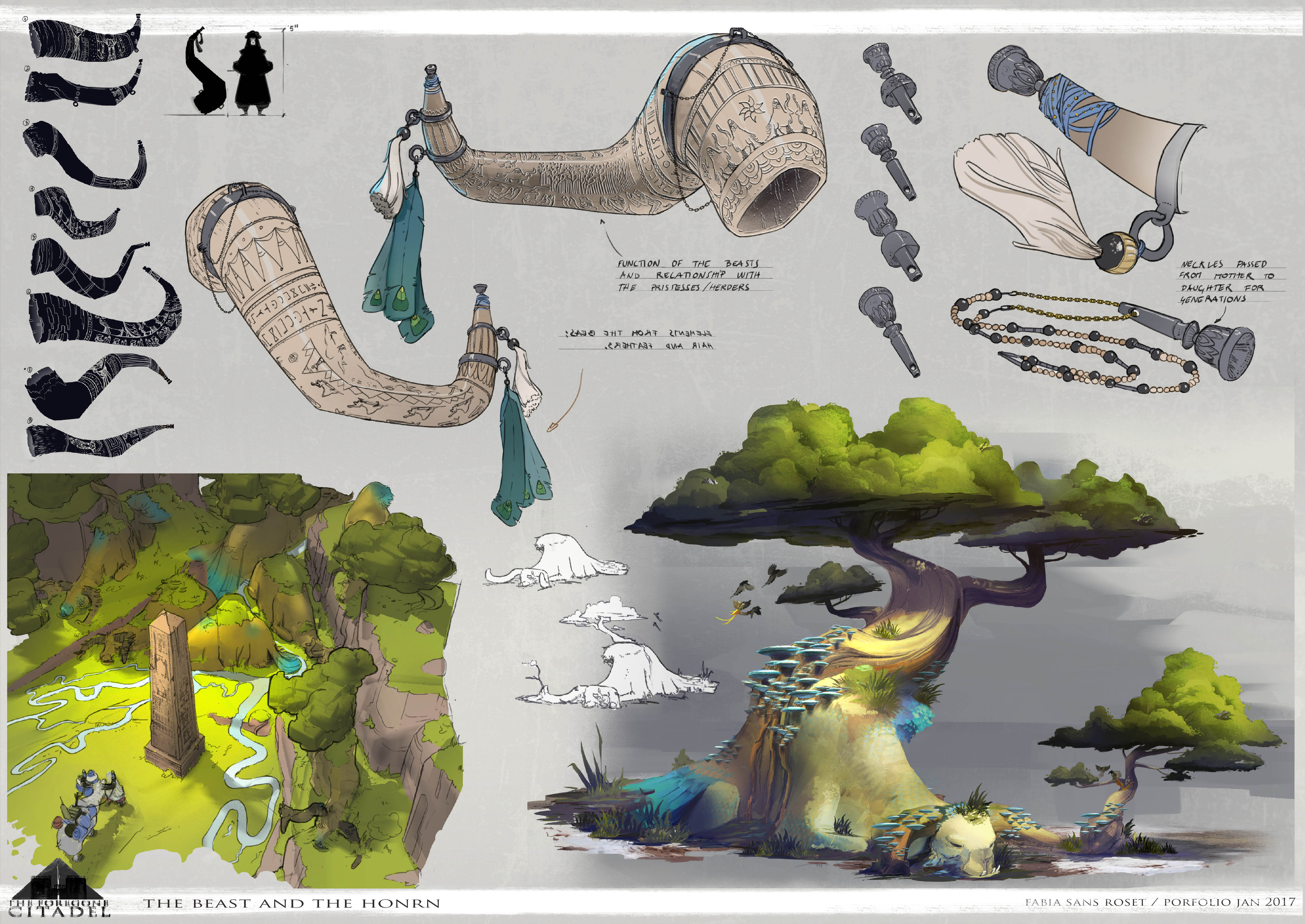 Horn and Beasts. Exploration.