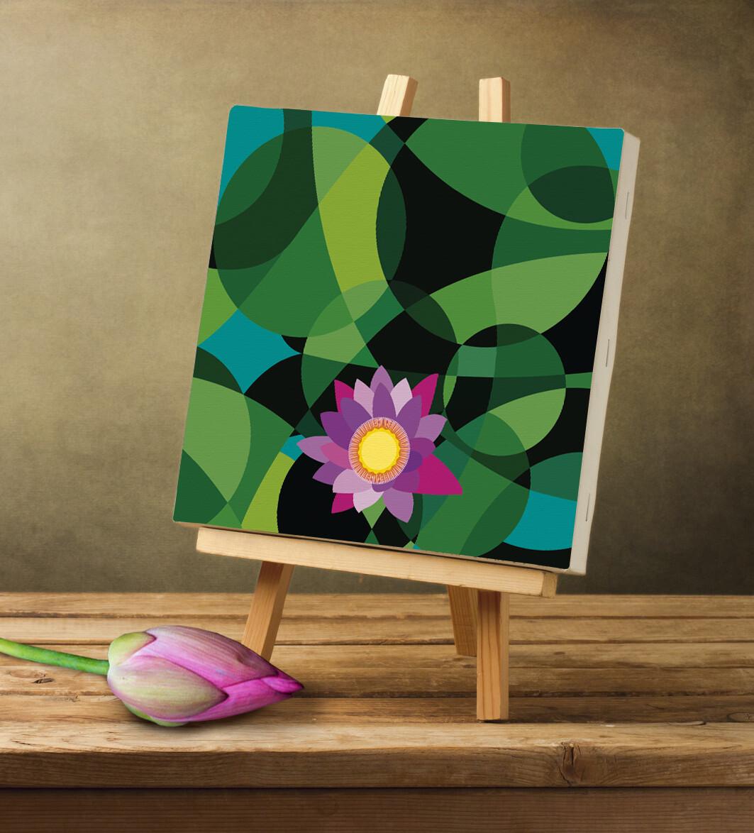 Rajesh r sawant lotus on canvas