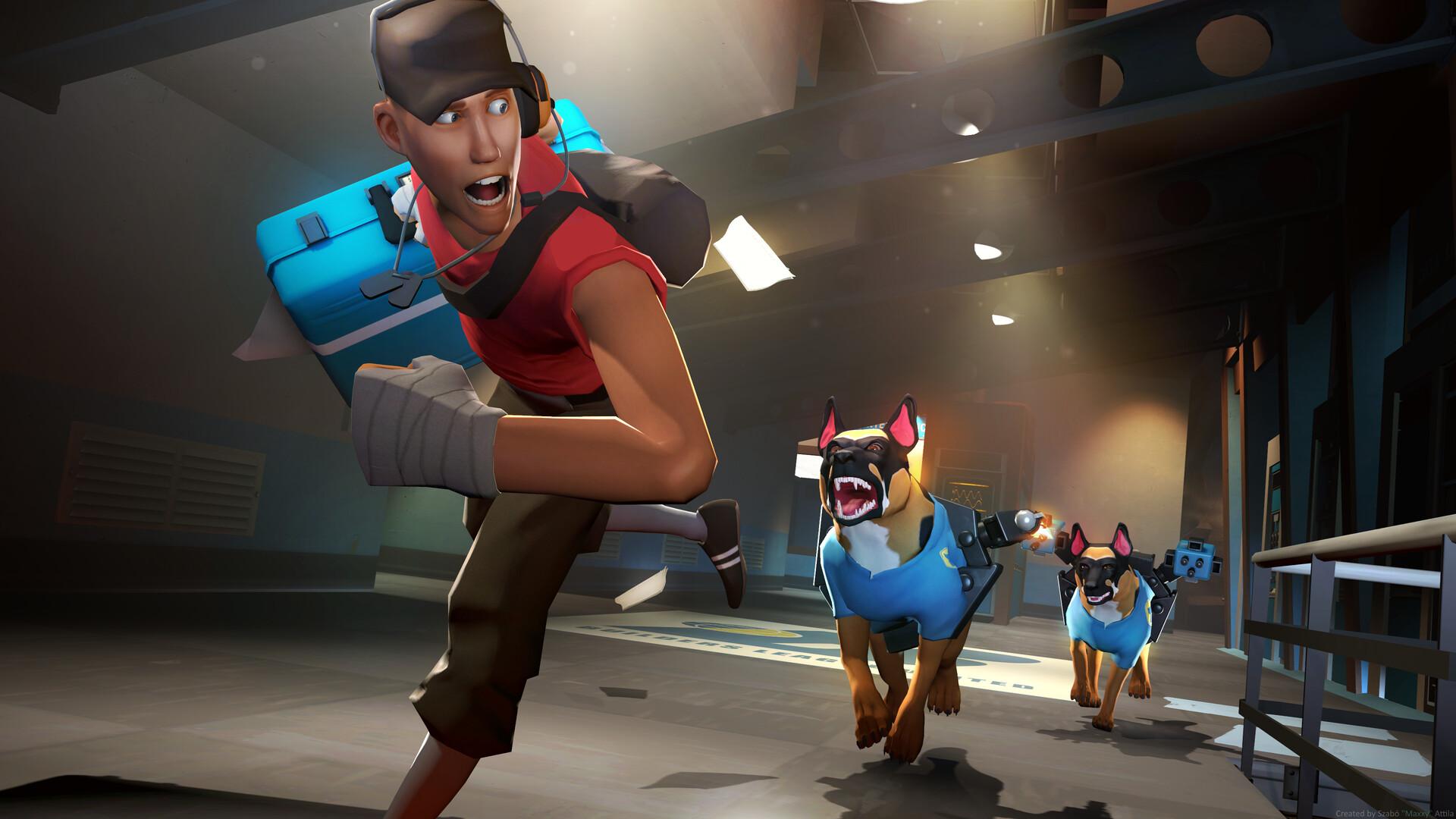 "3D Sfm Videos artstation - the guard dog tf2, szabó ""maxxy"" attila"