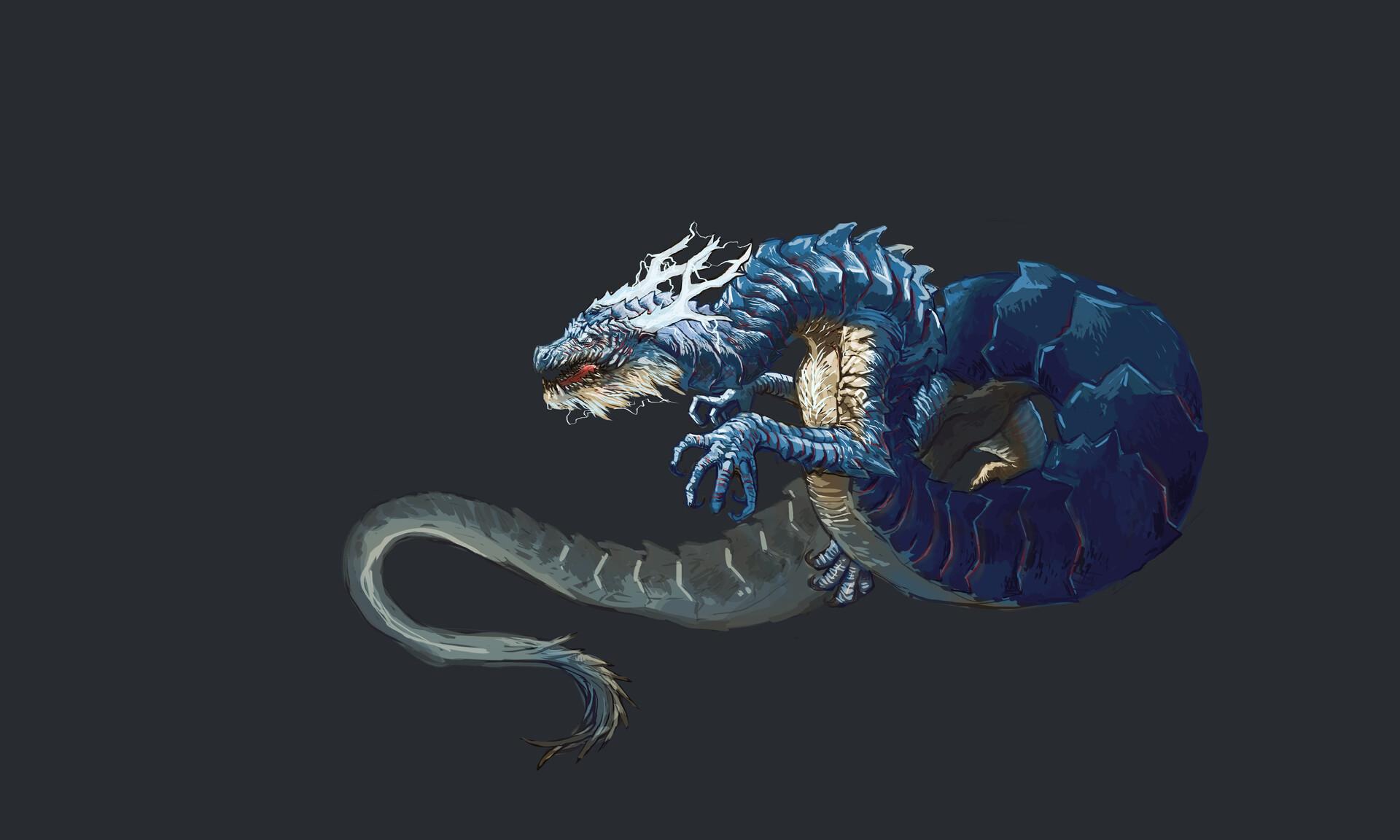 ArtStation - Aisan guardians, guardian of the west  Blue
