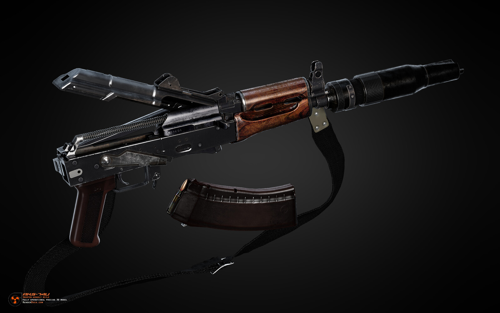 It was created in the early 80s based on the Ak-74, which in turn was created on the basis of the legendary Ak-47. The task was to create a compact and reliable automatic weapon for arming the crews of combat vehicles.