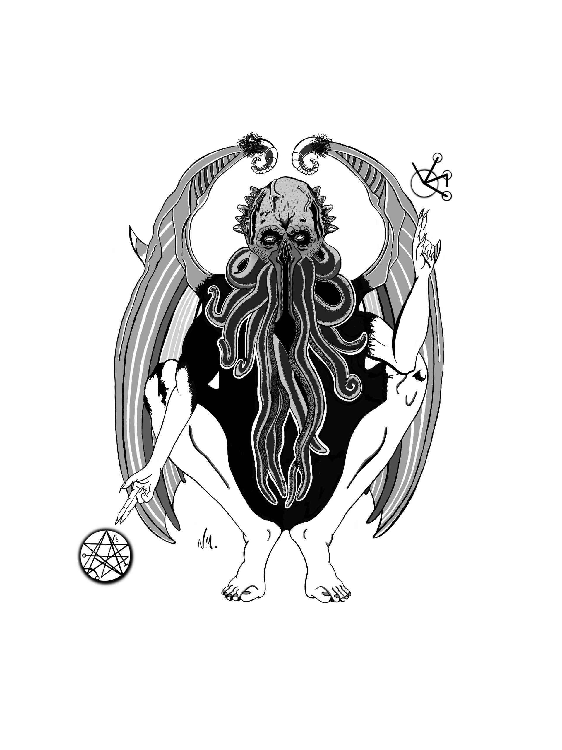 noodle   - Cthulhu - tattoo