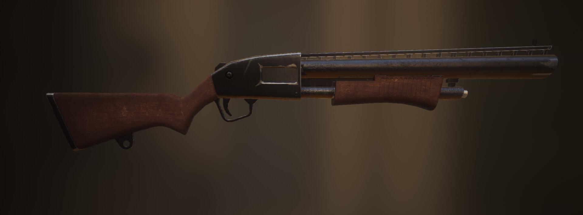 ArtStation - Fortnite Pump Shotgun, Tony Nguyen