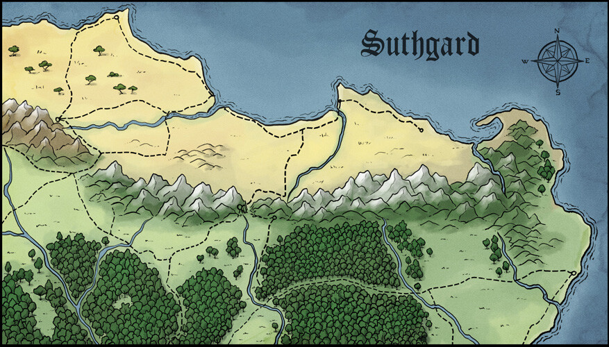 Suthgard (north) - map for my own D&D campaign