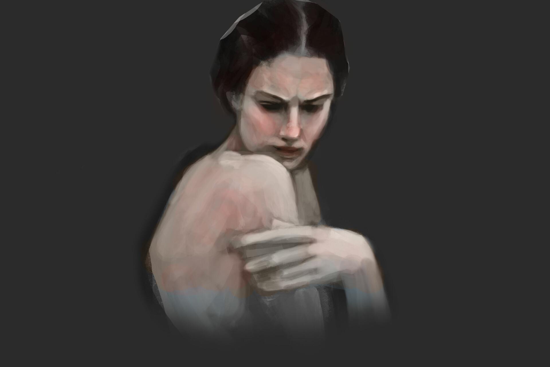 Mustafa kazmi painterly woman study