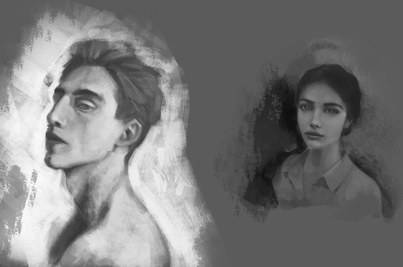 Greyscale sketches