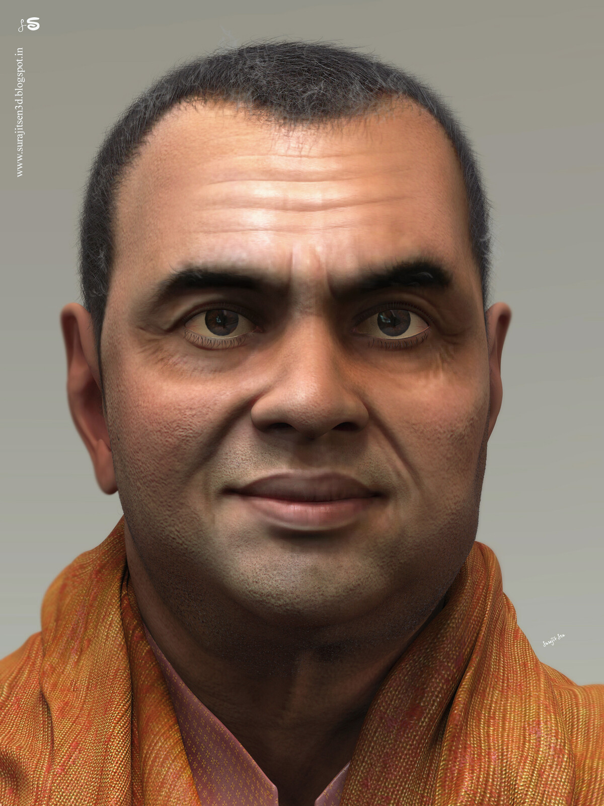 I tried to create a likeness CG Character of my favorite Actor.