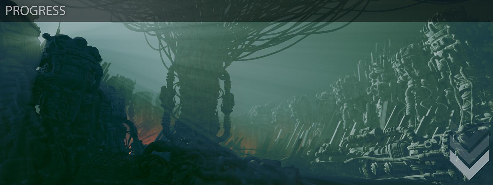 Amaru - Progression shots from original exploration to near final composition/lighting. 2 of 4