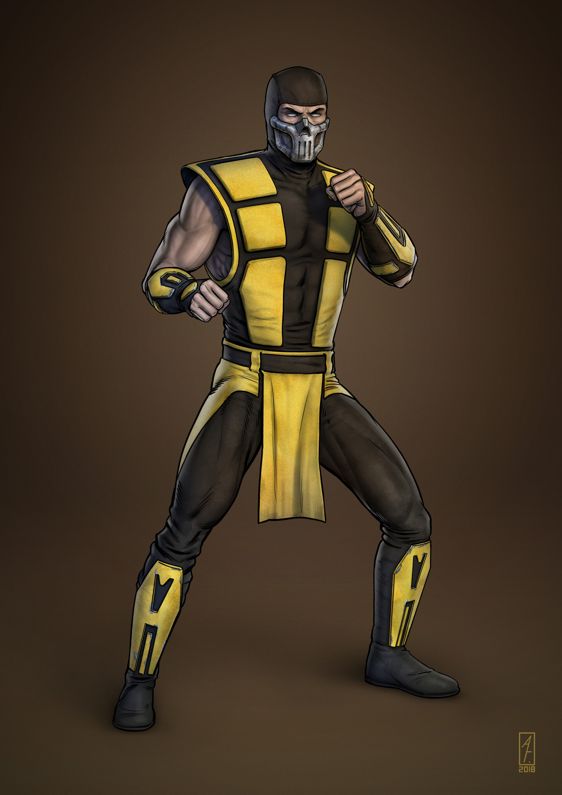 ArtStation - SCORPION MORTAL KOMBAT 3 ULTIMATE, ANDREY