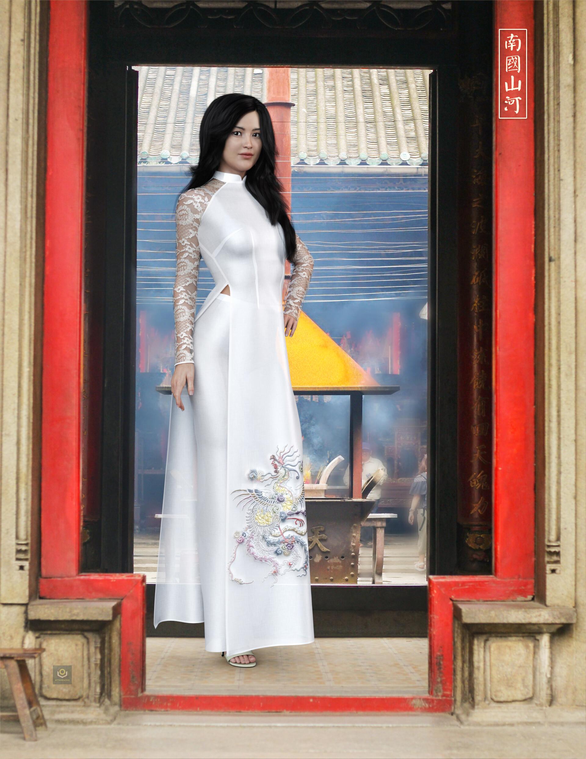 ArtStation - DAZ3D - Ao dai of Vietnamese , TU NGO TUAN