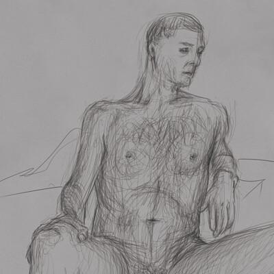Still-life nude study (timed)
