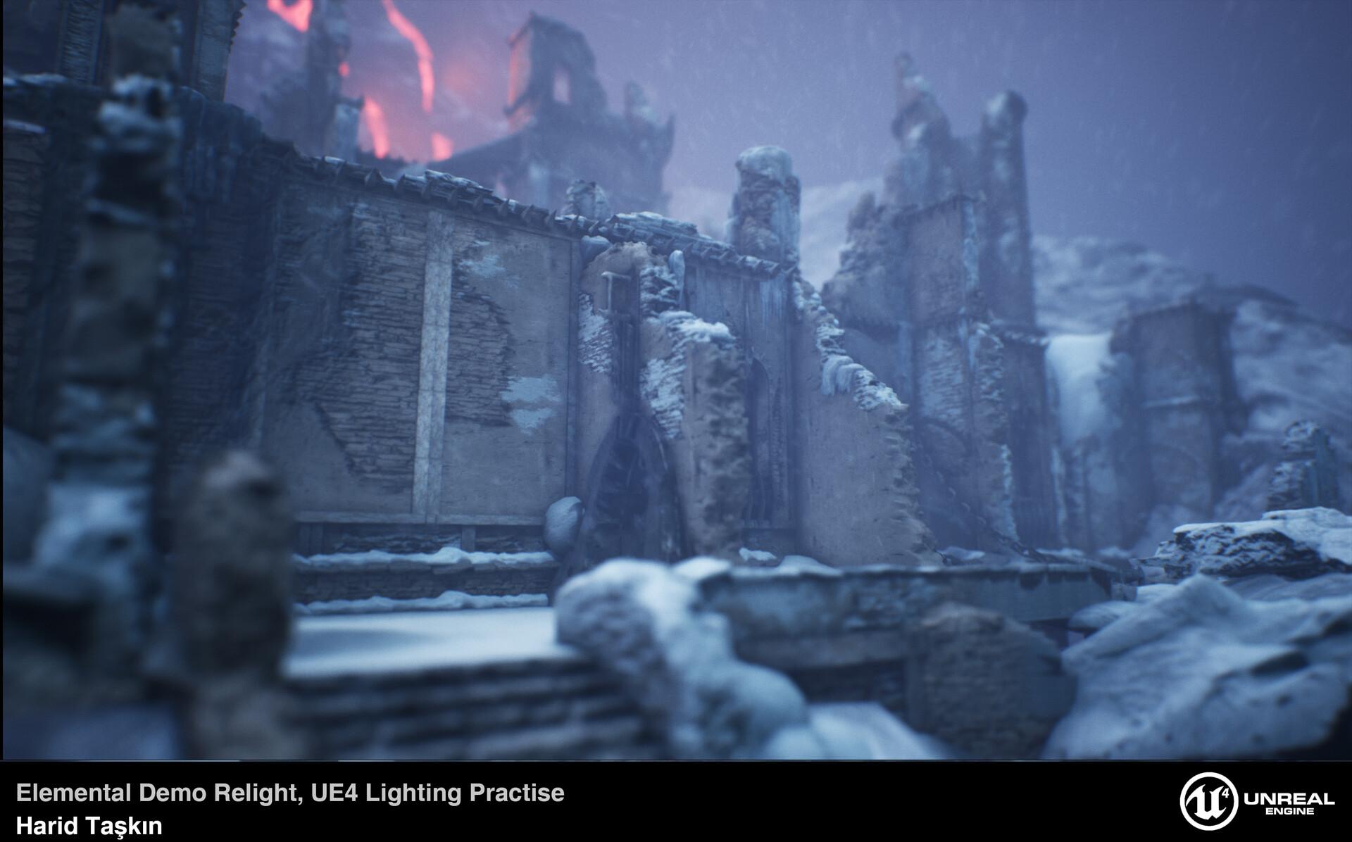 Artstation Ue4 Lighting Practise Elemental Demo Relight