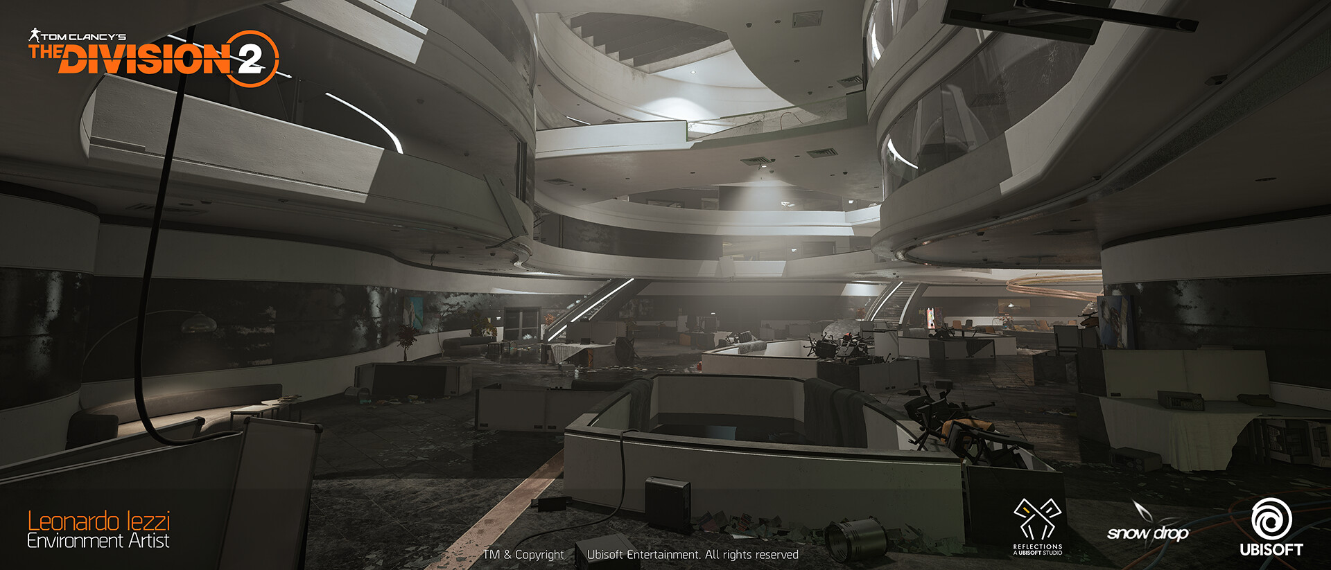 Leonardo iezzi leonardo iezzi the division 2 environment art 02 atrium 017 wide