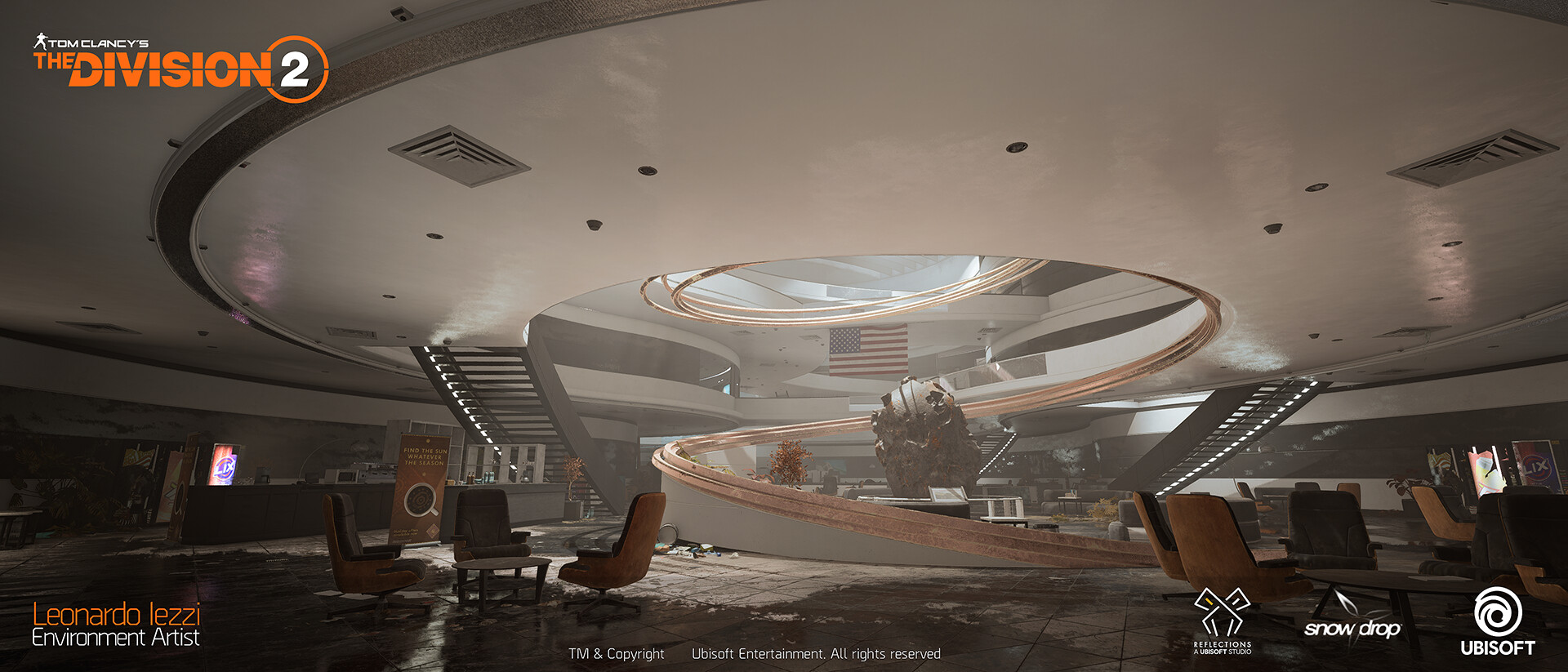 Leonardo iezzi leonardo iezzi the division 2 environment art 02 atrium 023 wide